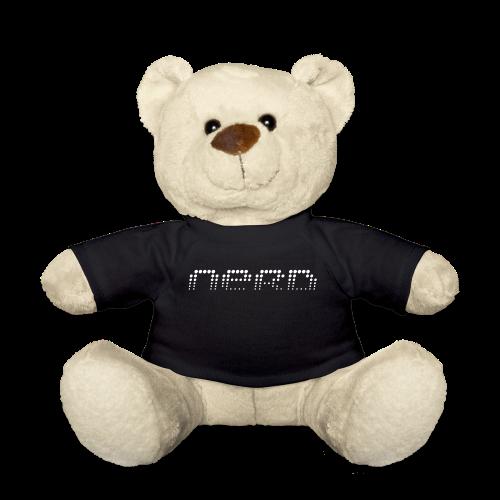 Bär mit Aufdruck Nerd - Teddy