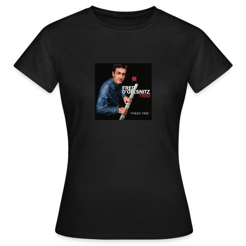 T-Shirt Femme Noir Fred d'Oelsnitz trio - T-shirt Femme