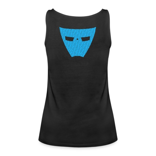 Womens T-Shirt - It's About Acid Text Over Mask - Blue Logo - Women's Premium Tank Top