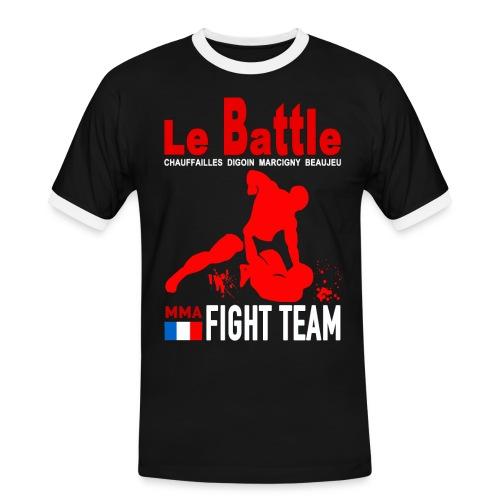 Tee shirt noir Fight Team officiel 2017 - T-shirt contrasté Homme