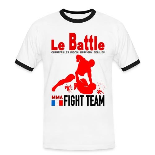 Tee shirt blanc Fight Team officiel 2017 - T-shirt contrasté Homme