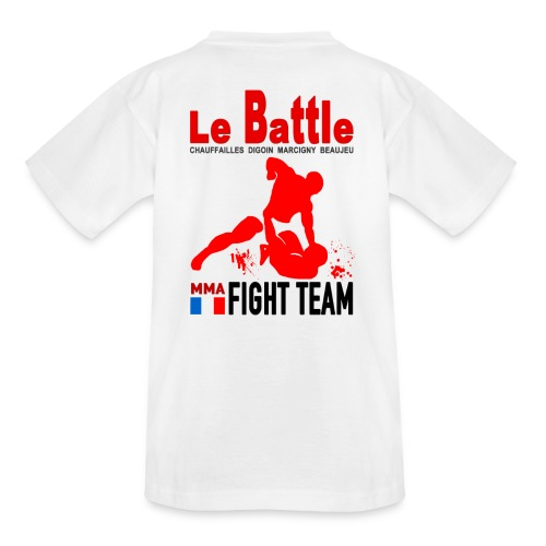 Tee shirt blanc Fight Team enfants - T-shirt Ado