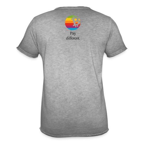 Bitcoin Shirt, Label im Nacken, by Satoshi Nakamoto - Männer Vintage T-Shirt