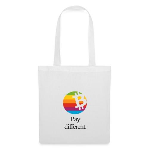 Bitcoin Tragetasche - pay different. - Stoffbeutel