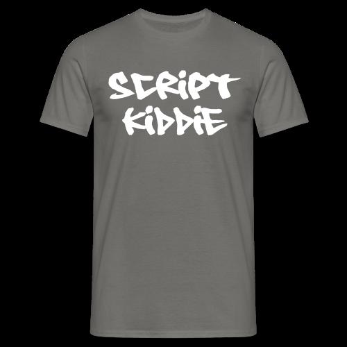 T-Shirt mit Aufdruck Script Kiddie - Männer T-Shirt