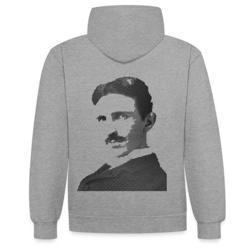 Nikola Tesla - Kontrast-Hoodie