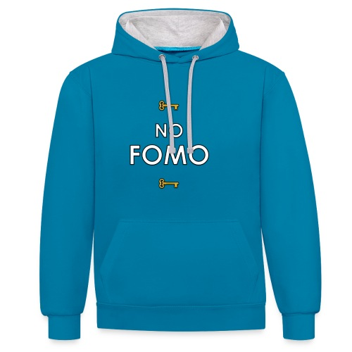 Unisex Two-tone No FOMO Hoodie - Contrast Colour Hoodie