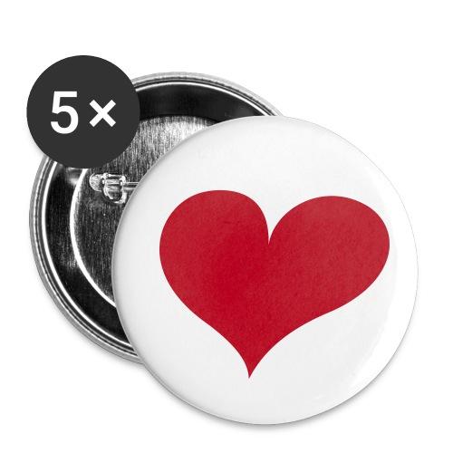 Sydän - Rintamerkit isot 56 mm (5kpl pakkauksessa)