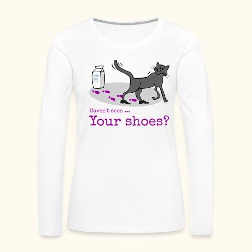 Katze - Lustig, Listig u. Humor - Frauen Premium Langarmshirt