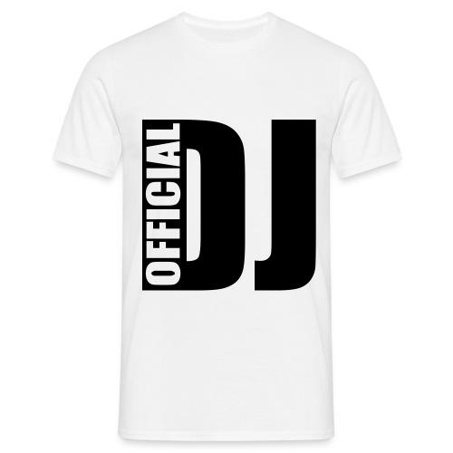Official DJ - T-skjorte for menn