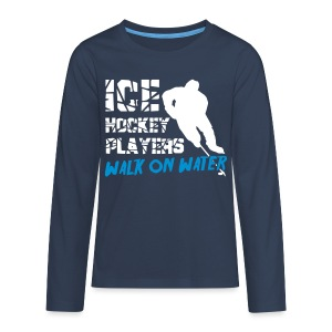 Ice Hockey Players Walk on Water Teenager's T-Shirt - Teenagers' Premium Longsleeve Shirt