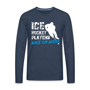 Ice Hockey Players Walk on Water Men's Long Sleeve T-Shirt - Men's Premium Longsleeve Shirt
