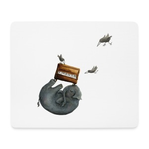 Ein Elefant mit Piano – Mousepad - Mousepad (Querformat)