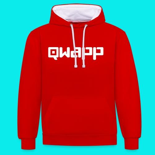 QWAPP Hoodie Rot - Kontrast-Hoodie