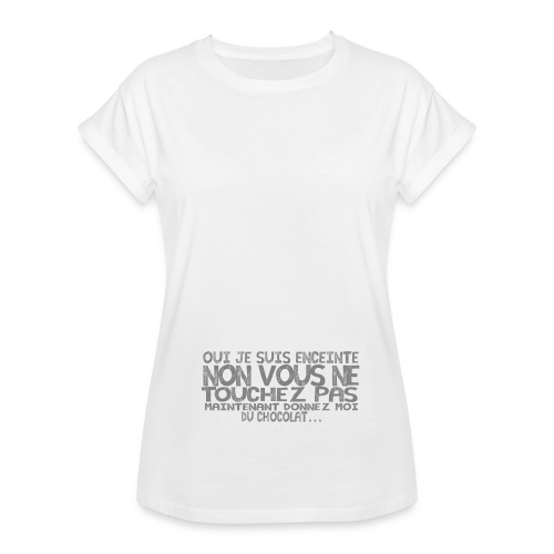 Tshirt-Femme-Enceinte-C - T-shirt oversize Femme