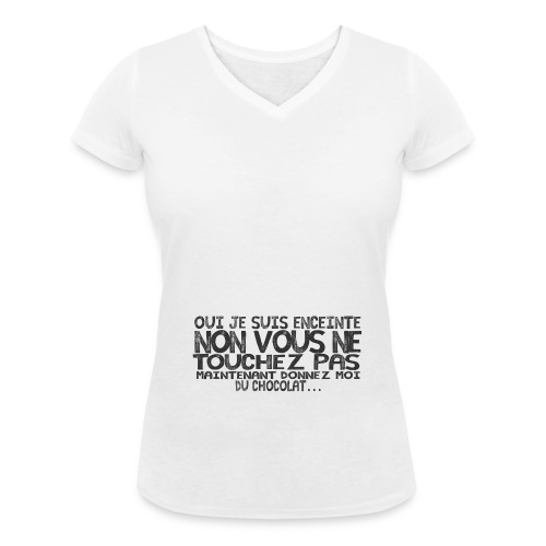 Tshirt-Femme-Enceinte-Chocolat-5 - T-shirt bio col V Stanley & Stella Femme