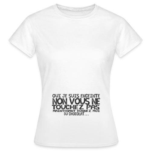Tshirt-Femme-Enceinte-Chocolat-4 - T-shirt Femme