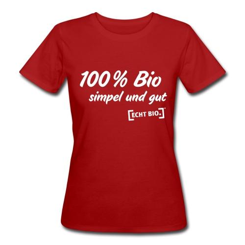 simpel und gut - Frauen Bio-T-Shirt