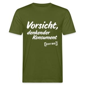 Vorsicht, denkender Konsument! - Männer Bio-T-Shirt