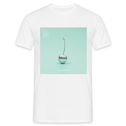 Shirt mit silberner Kirsche  - Männer T-Shirt