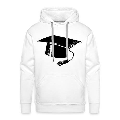 Abschluss Hoodie |  Hut - Weiß - Männer Premium Hoodie