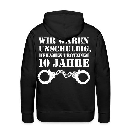 Abschluss Hoodie Rückendruck |  10 Jahre um! - Schwarz - Männer Premium Hoodie
