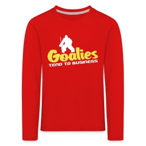 Hockey Goalies Tend To Business Children's Long Sleeve T-Shirt - Kids' Premium Longsleeve Shirt