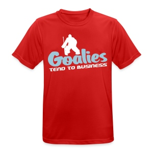 Hockey Goalies Tend To Business Men's Breathable T-Shirt - Men's Breathable T-Shirt