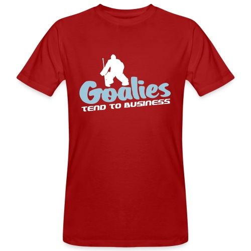 Hockey Goalies Tend To Business Men's Organic T-Shirt - Men's Organic T-shirt