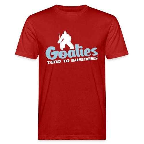 Hockey Goalies Tend To Business Men's Organic T-Shirt - Men's Organic T-Shirt