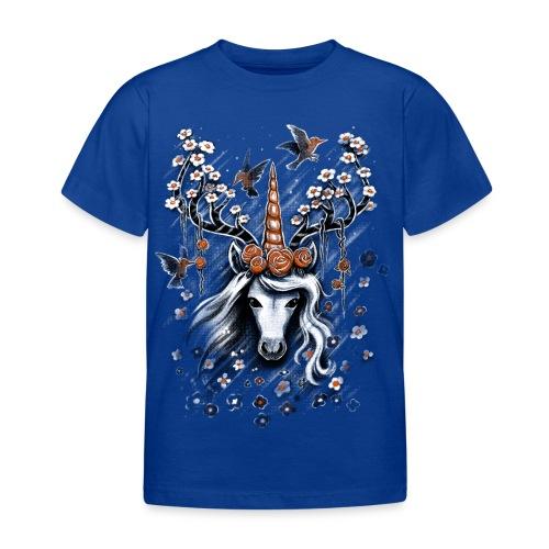 Deer Unicorn Flowers - Kids' T-Shirt
