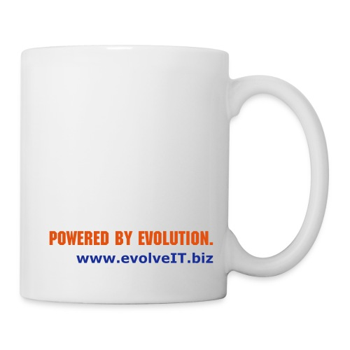 Powered by evolution. - Mug