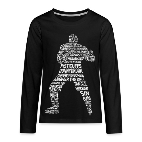 Hockey Enforcer Typography Teenager's Long Sleeve T-Shirt - Teenagers' Premium Longsleeve Shirt