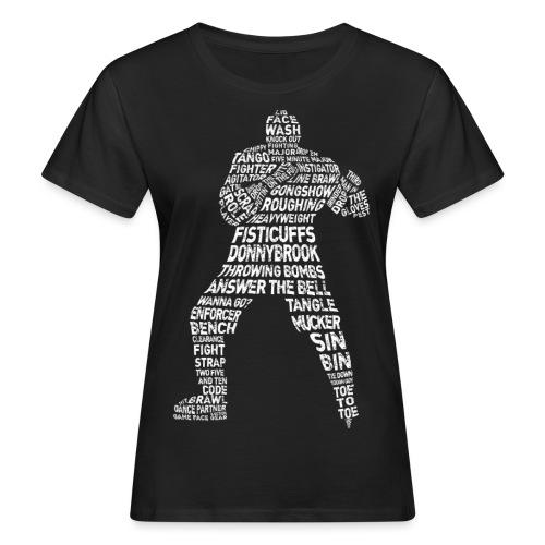 Hockey Enforcer Typography Women's Organic T-Shirt - Women's Organic T-Shirt