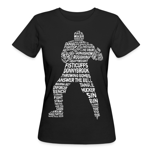 Hockey Enforcer Typography Women's Organic T-Shirt - Women's Organic T-Shirt