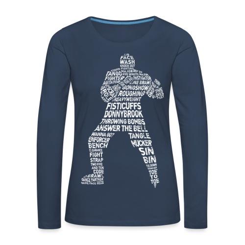 Hockey Enforcer Typography Women's Long Sleeve T-Shirt - Women's Premium Longsleeve Shirt