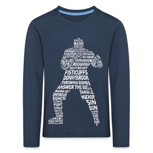 Hockey Enforcer Typography Children's Long Sleeve T-Shirt - Kids' Premium Longsleeve Shirt