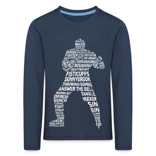Hockey Enforcer Typography Children's Long Sleeve T-Shirt - Kids' Premium Longsleeve Shirt