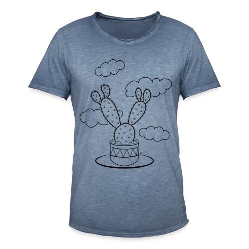 """T-shirt Homme Vintage Un cactus dans les nuages"""" - T-shirt vintage Homme"""