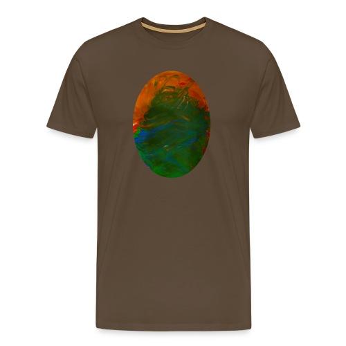 Klaras Fingermalerei auf braunem Shirt - Männer Premium T-Shirt