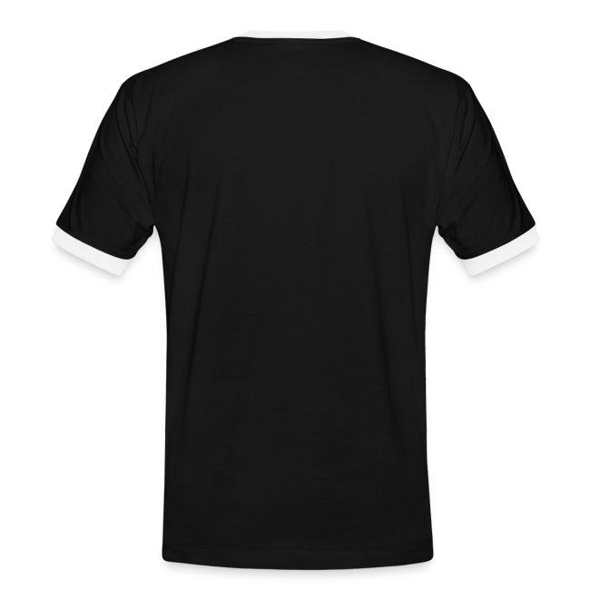 Klaras Fingermalerei auf schwarzem Shirt