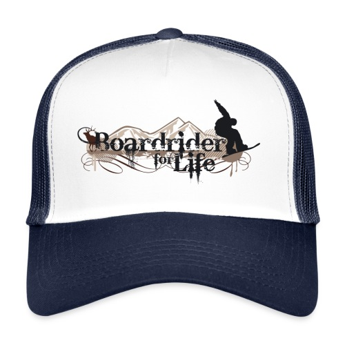 Snowboard Trucker Cap Boardrider for life - Trucker Cap