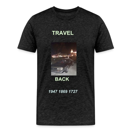 BACK TO THE FUTURE CAR - Men's Premium T-Shirt