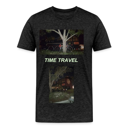 BACK TO THE FUTURE TRAIN - Men's Premium T-Shirt