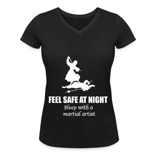 Feel Safe  - Women's Organic V-Neck T-Shirt by Stanley & Stella