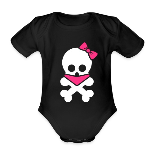 Skull One-piece - Organic Short-sleeved Baby Bodysuit