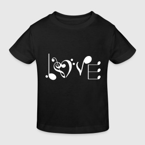 music love Shirts - Kids' Organic T-shirt