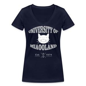T-shirt University of Miaooland femme - T-shirt bio col V Stanley & Stella Femme