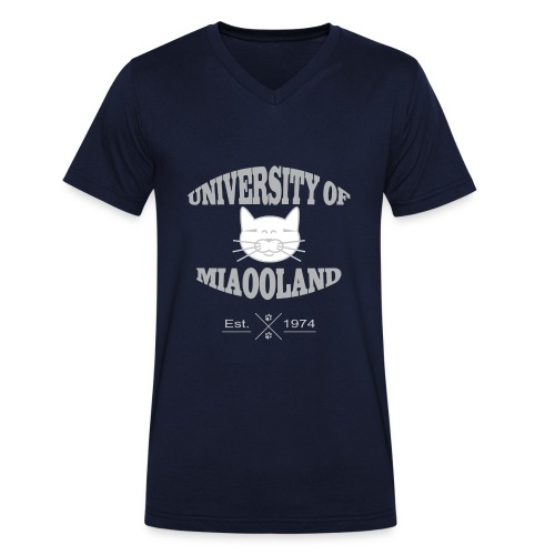 T-shirt University of Miaooland homme - T-shirt bio col V Stanley & Stella Homme