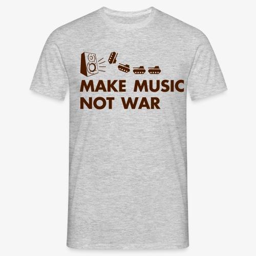 Make Music Not War - Männer T-Shirt